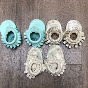 Freshly Picked Mocs 3 pairs size 3